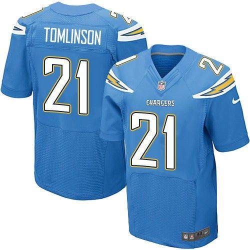 24.99 Nike Elite LaDainian Tomlinson Electric Blue Men s Jersey - Los  Angeles Chargers  21 NFL Alternate 99929c46c