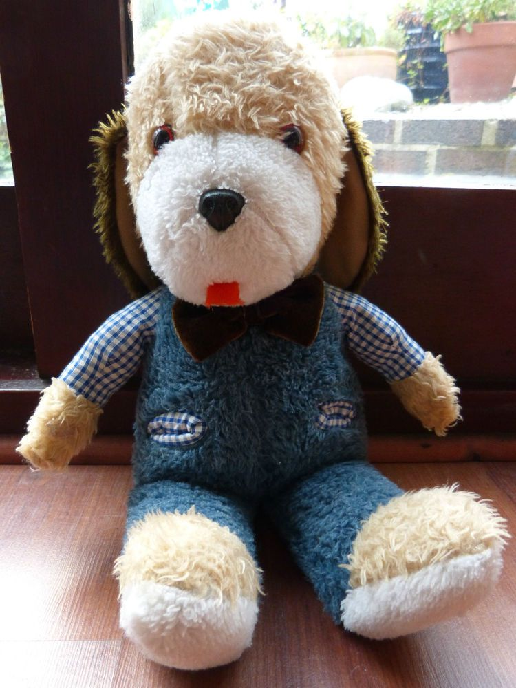 Vintage 1981 Mothercare Plush Dog Soft Toy Dog Plush Dog Soft Toy
