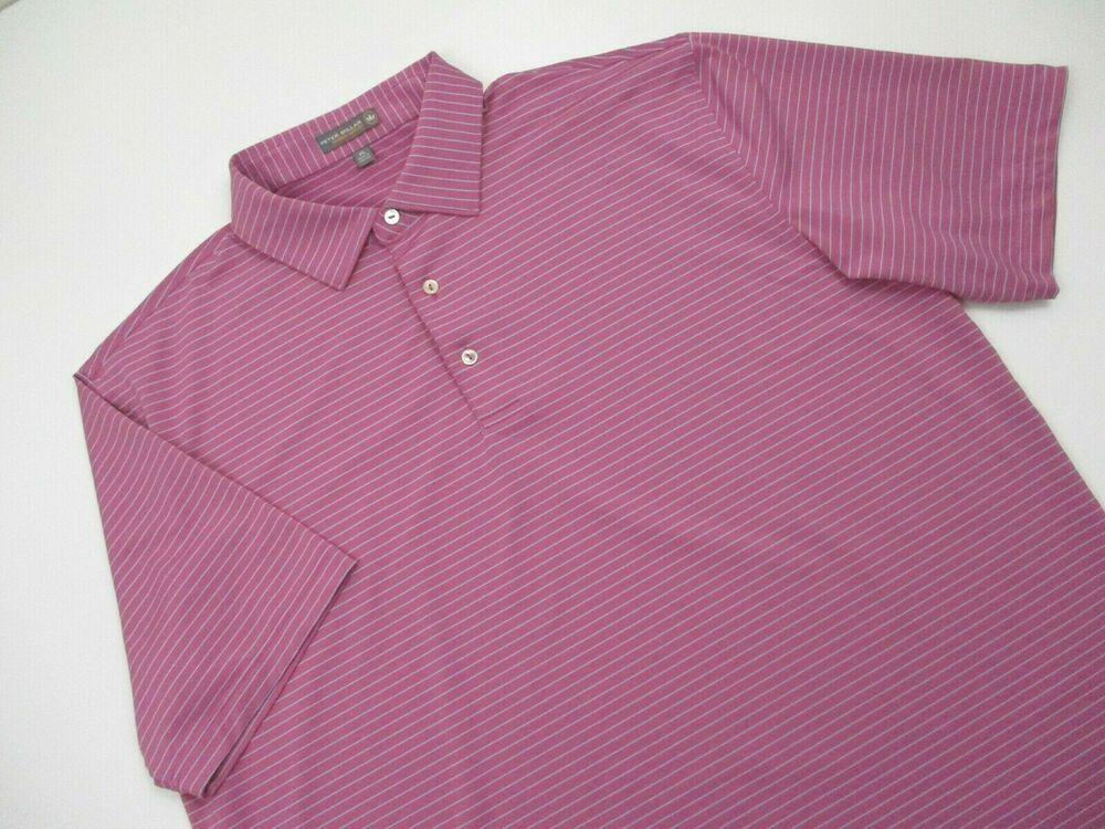 Mens Peter Millar Summer Comfort golf Polo shirt XL pink