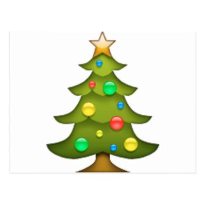 Christmas Tree Emoji Holiday Postcard Zazzle Com Tree Emoji Christmas Pillowcases Christmas