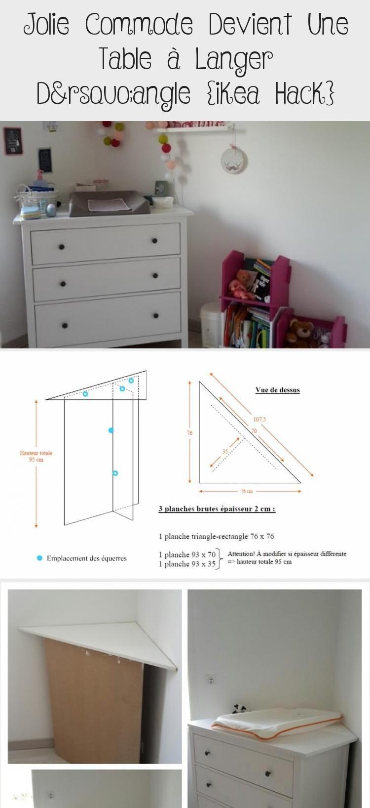 Commode A Langer Angle ikea hack: table à langer en coin #babyzimmerjungegelb