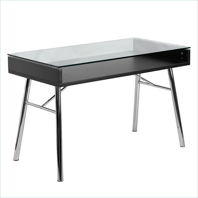 Chrome Glass Top Desk