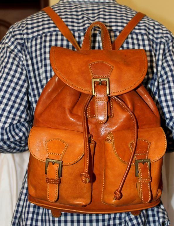 vintage väska skinn