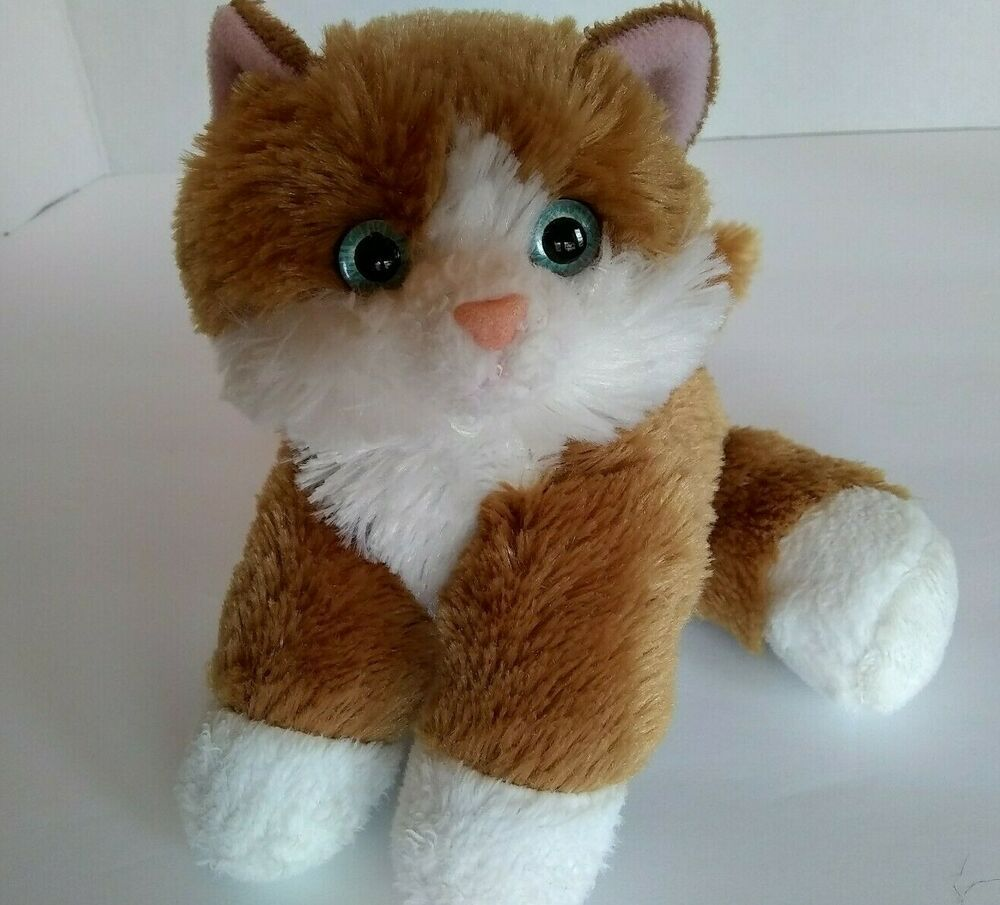 Aurora Cat Orange White Gold Tabby Mini Flopsie 7 Kitten Soft Toy Beanbag Stuff Aurora Tabby Cat Plush Soft Toy