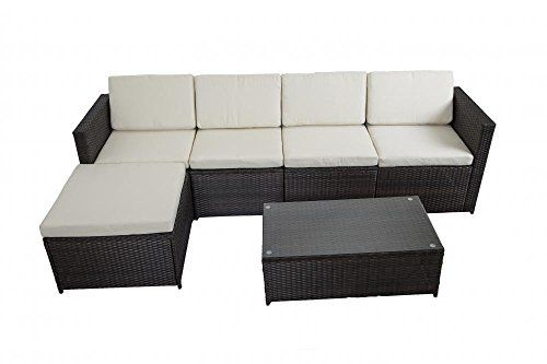 6 PCS Outdoor Patio Sofa Set Sectional Furniture PE Wicke... https ...