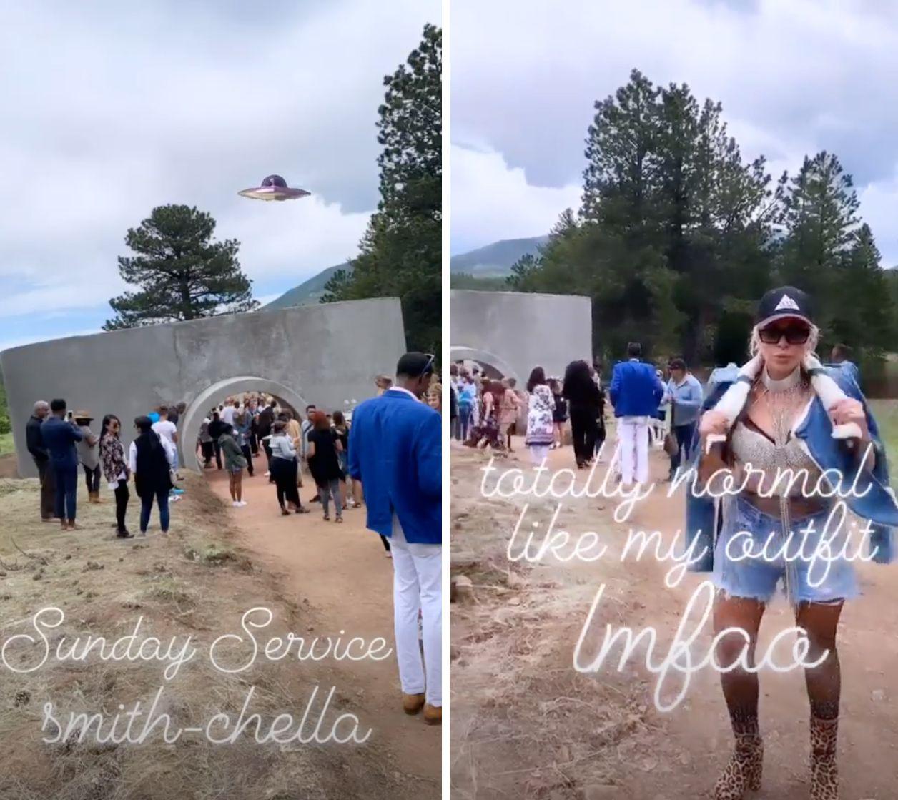 Joyce Bonelli Attends Kanye West S Sunday Service After Kardashian Rift Kanye West And Kim Celebrity Feuds Latest Celebrity News