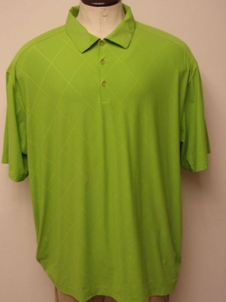 78aa6aebe Men s Nike Golf DRI-FIT sz 2XL XXL Green Diamond Pattern SS Polo Shirt FREE  SHIP  fashion  clothing  shoes  accessories  mensclothing  shirts (ebay  link)