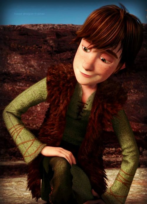 A nice smile from Hiccup.