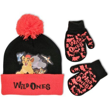 Nickelodeon boys Paw Patrol Character Scandi Hat and Mittens Set Winter Accessory Set
