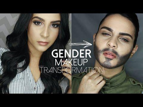 Gender Makeup Transformation Youtube Beard Makeup Makeup Transformation Male Makeup
