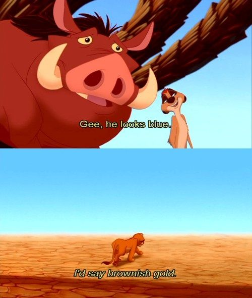 Image result for pumbaa brownish gold