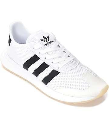 8c83e63ff17c7b adidas Flashback White   Black Shoes (Womens)