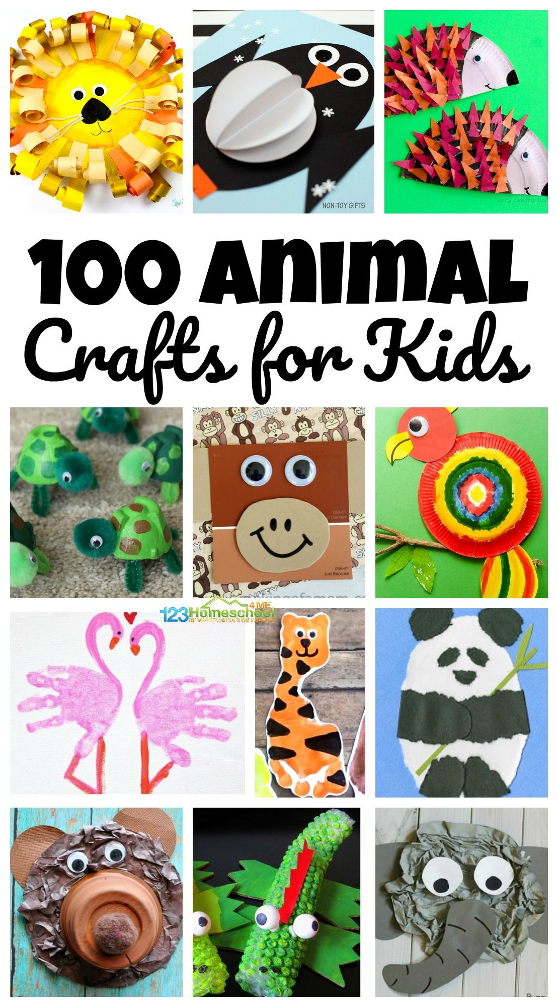 100 Amazing Zoo Animal Crafts