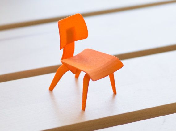 Designer Chair Miniature   Eames Molded Plywood Chair