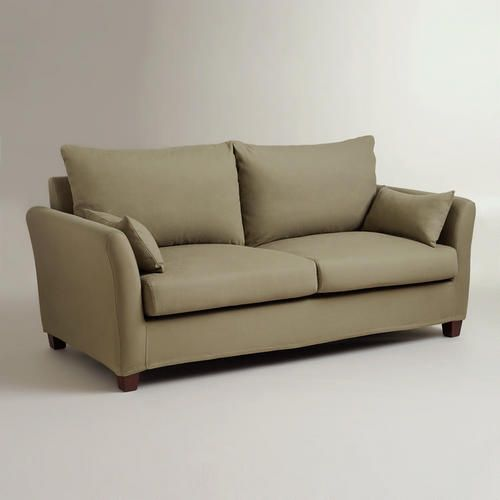 One of my favorite discoveries at WorldMarket.com: Sage Luxe Sofa Slipcover  To go - Sage Luxe Sofa Slipcover Sofa Slipcovers, Slipcovers And Sofas