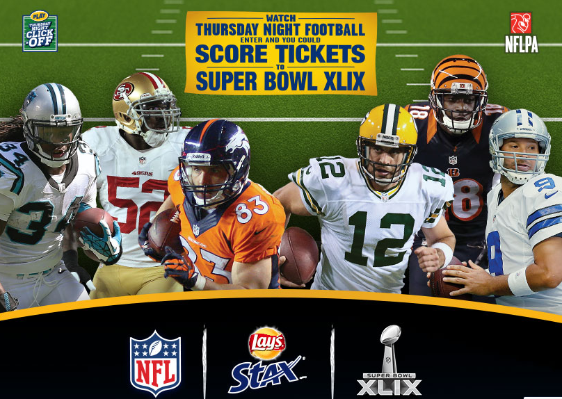 Free Lays Stax Chips every Thursday night until December 18 during the Thursday night football game.  Each game will have a different trigger event for when the free coupon will go live.