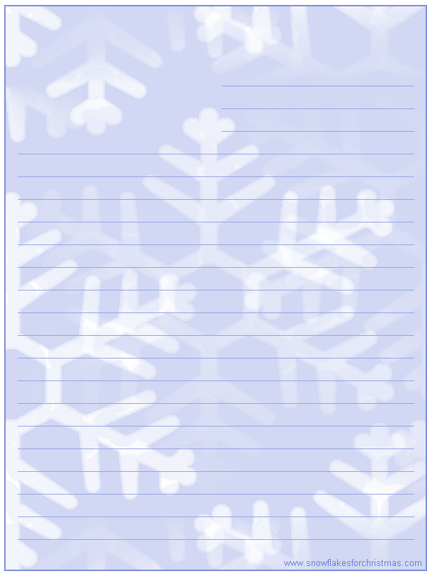 free printable christmas snowflake stationery christmas letter