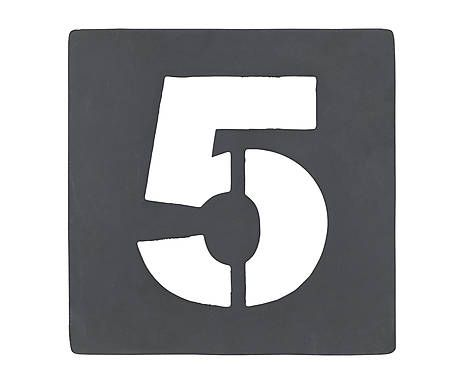 Chiffre d coratif pochoir n 5 fer galvanis h10 transfers and printable lettering - Chiffre a imprimer gratuit ...