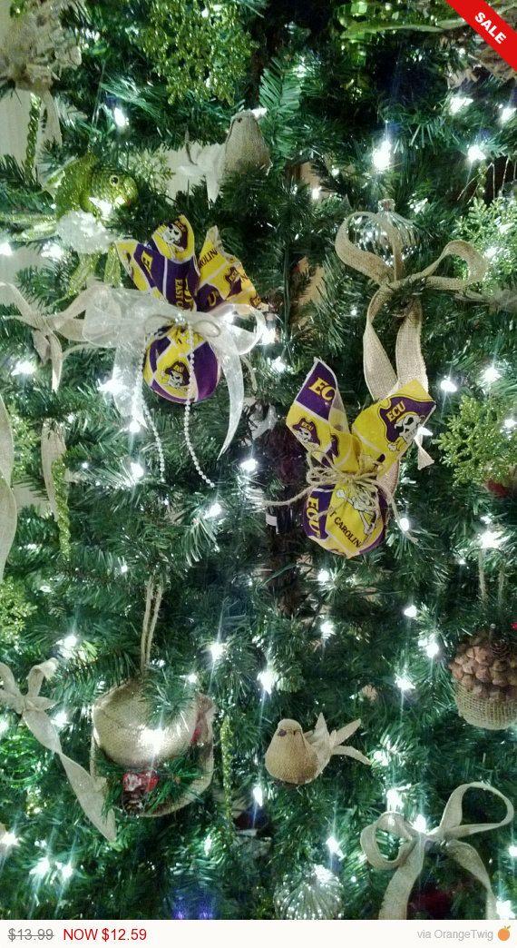 His  Her ECU Pirate Ornament Set, ECU Ornament, Christmas Ornament - christmas decorations sale
