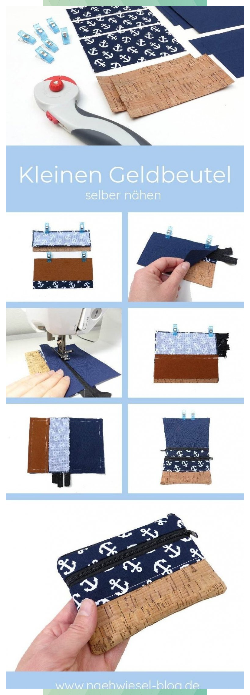 Photo of Sew a small wallet yourself