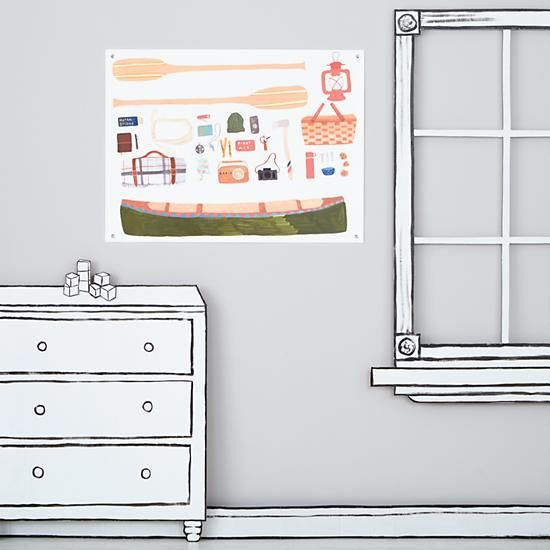 Outdoors Banner (Canoeing) in All Wall Art   The Land of Nod   Wall ...