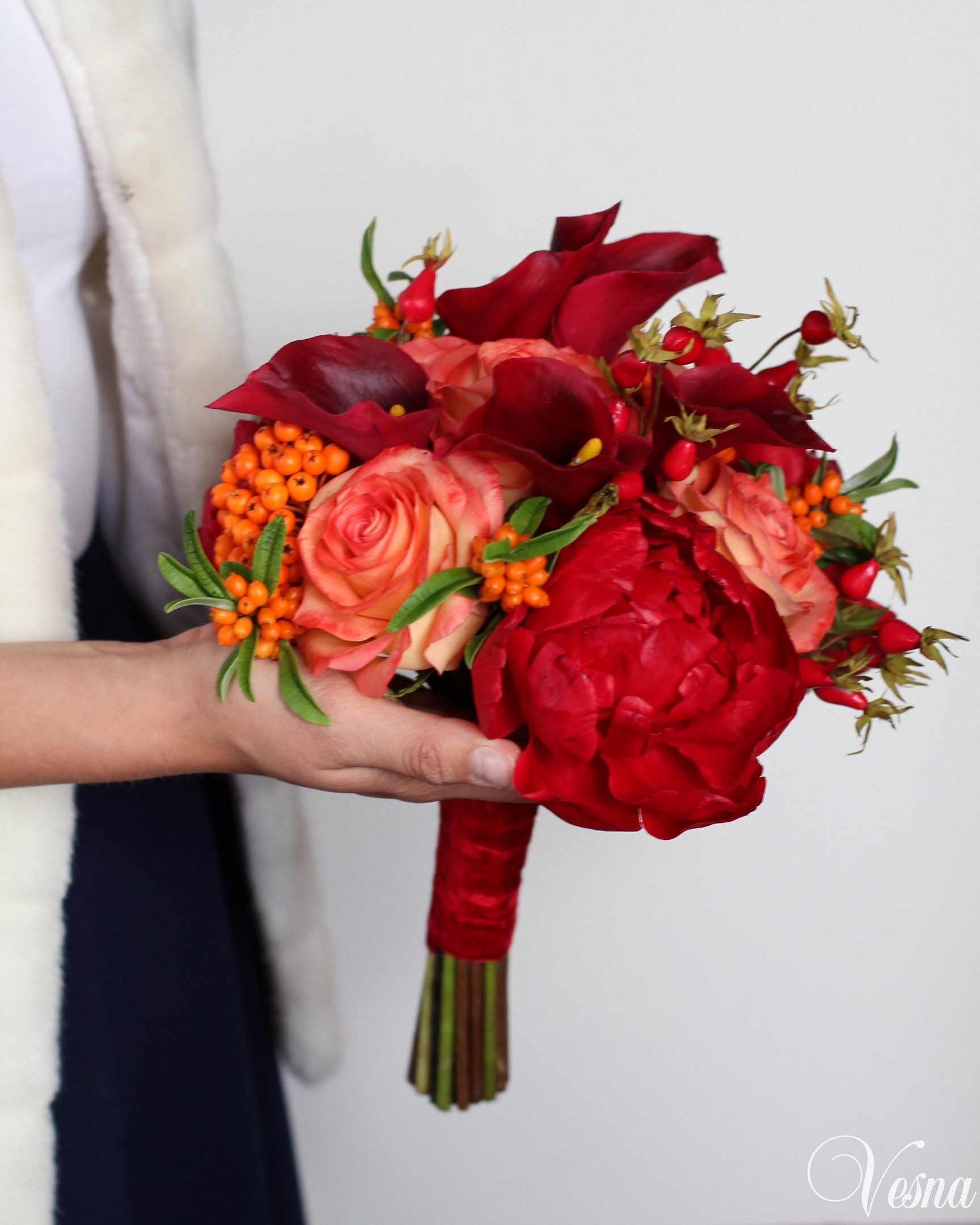 Букет невесты осень каллы, каллы свадебном