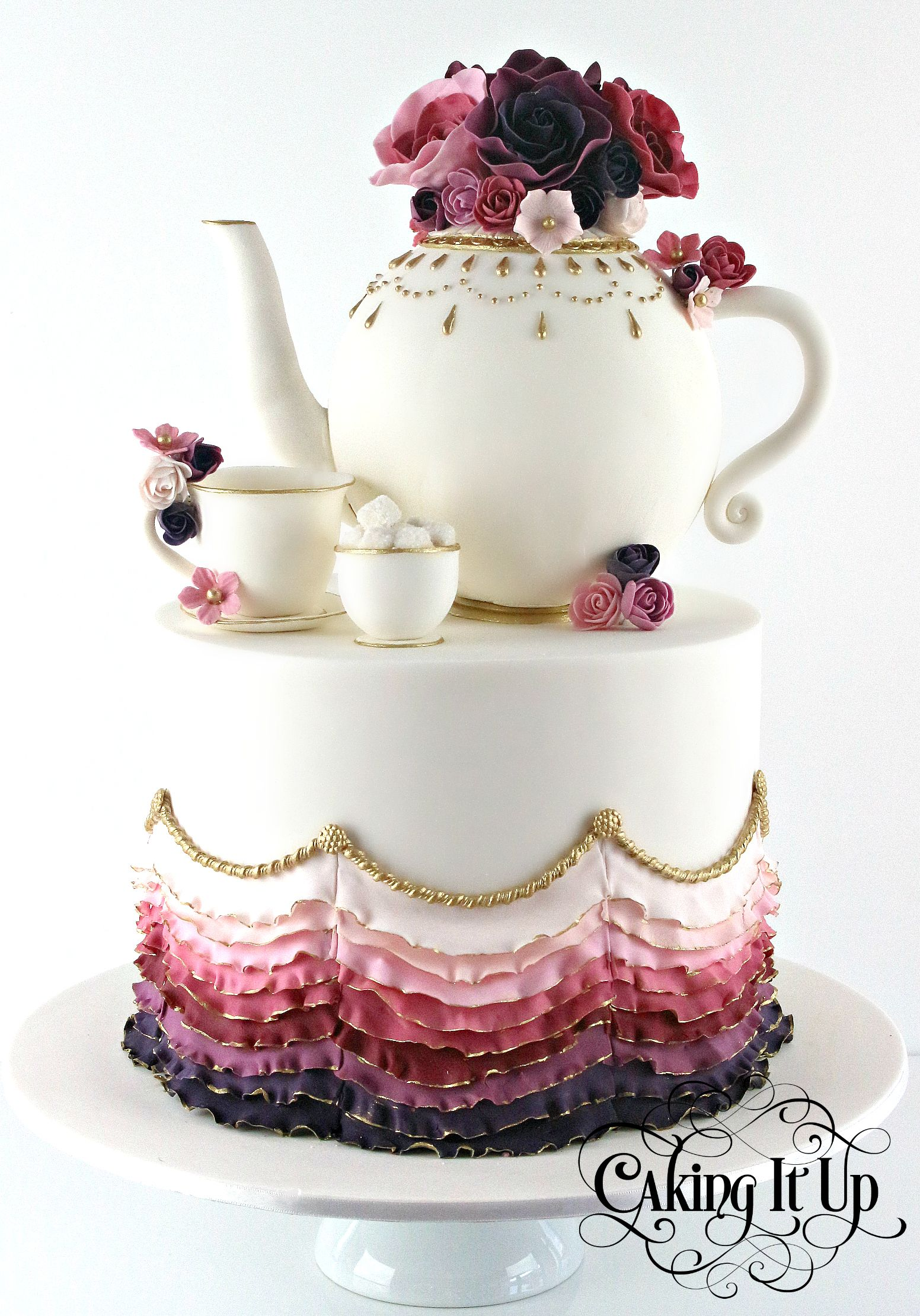 Kitchen Tea Cake A Stunning Kitchen Tea Cake Featuring Bold And Vibrant Colours