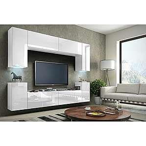 FUTURE 1 Zeitnah Wohnwand Wohnzimmer Möbelset, Anbauwand Schrankwand Möbel  Set, Exklusive Unterhaltungseinheit Mit Regalen