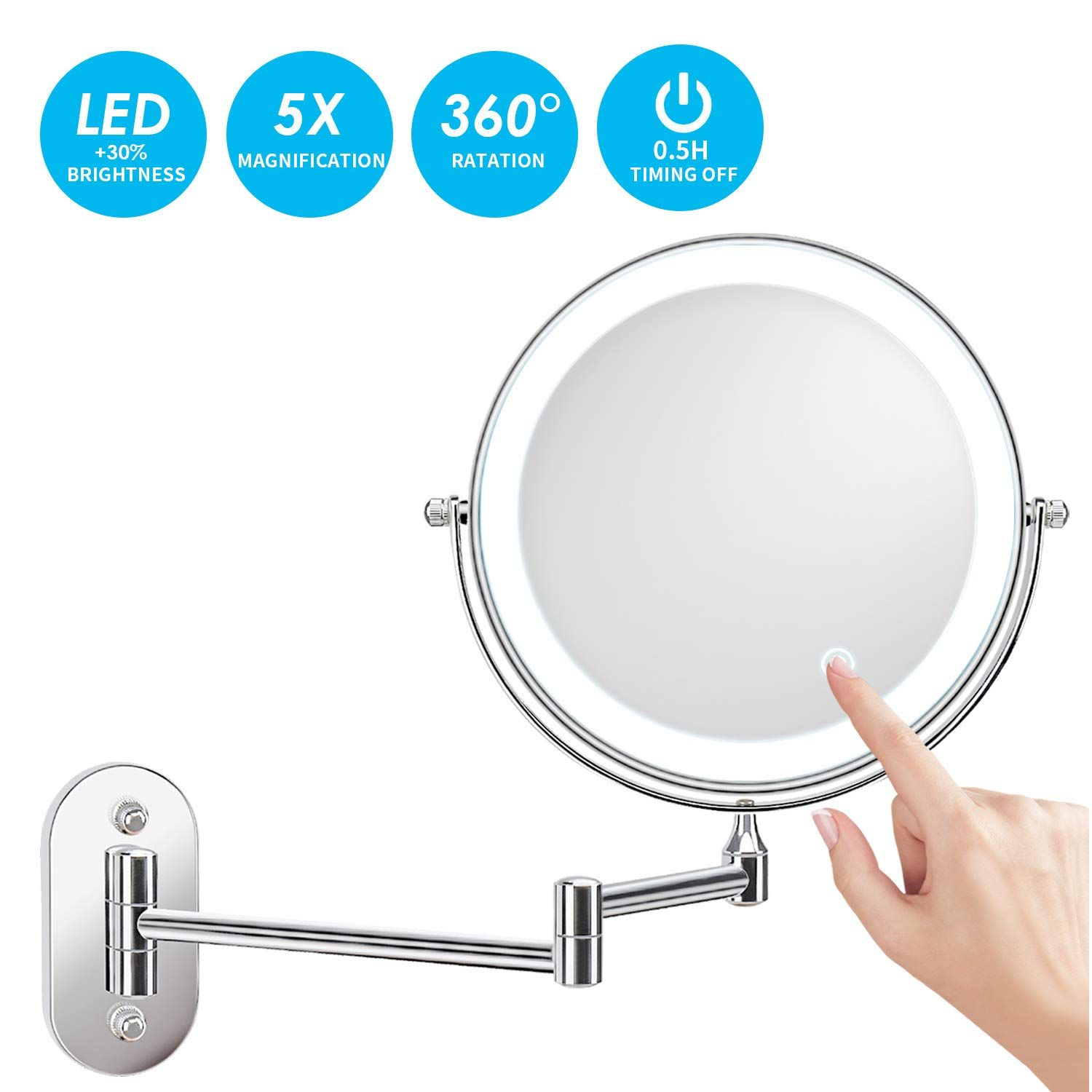 Top 10 Battery Operated Makeup Mirror Wall Mounted Reviews In 2020 In 2020 Wall Mounted Makeup Mirror Wall Mounted Lighted Makeup Mirror Makeup Mirror