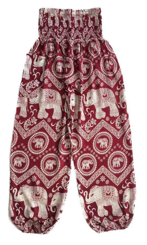 Red Circle Elephant Pants
