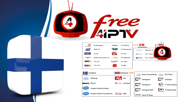 Finland Free Iptv source links m3u Playlist | IPTV EUROPE