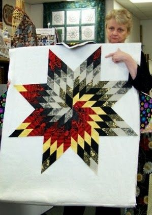 Black, red and yellow spiral Lone Star.