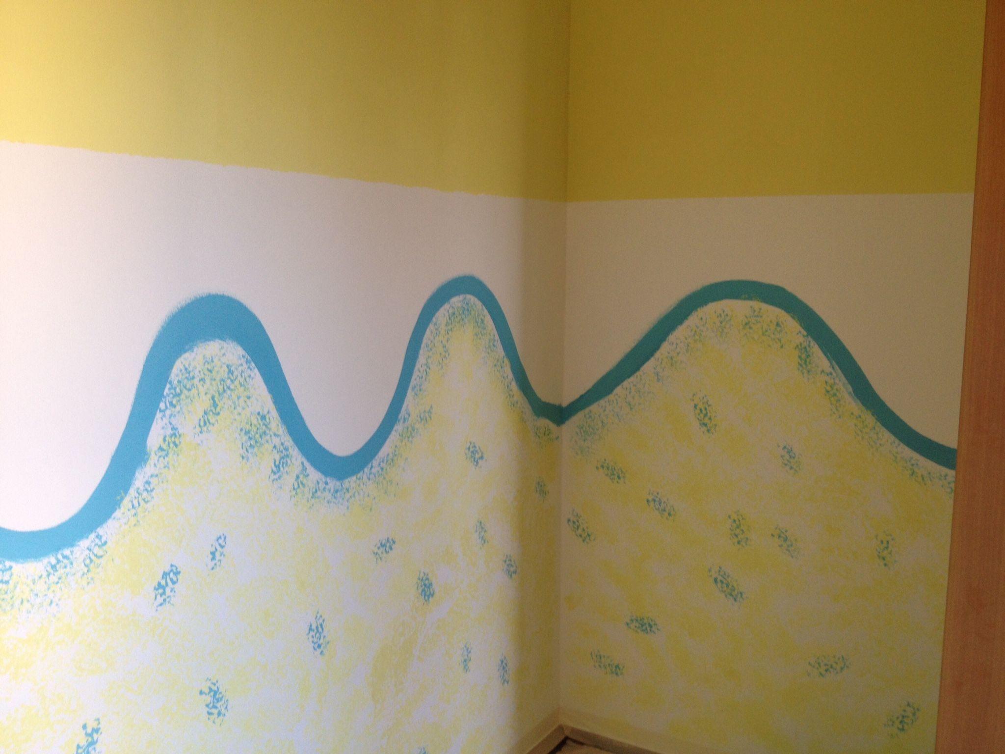 Bambini Dipinti ~ Dipingere pareti cameretta spugnando coi bambini lavoretti per