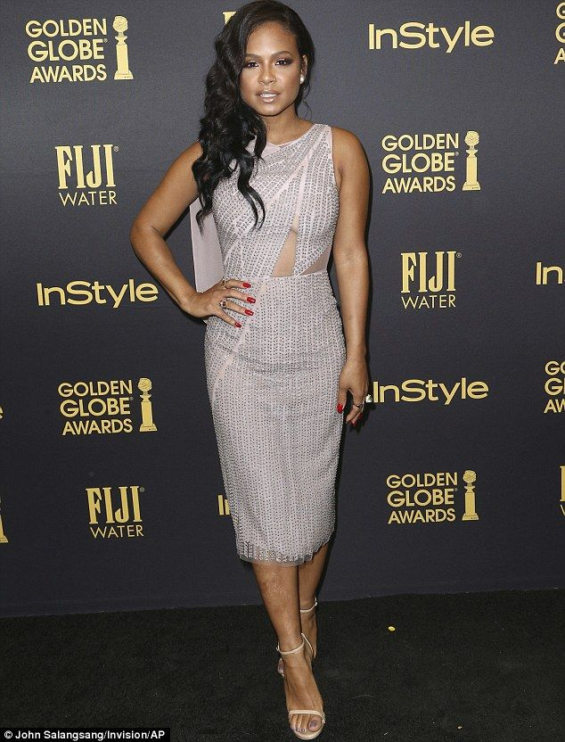 Busty Christina Milian flaunts her ample curves at Golden Globe ...