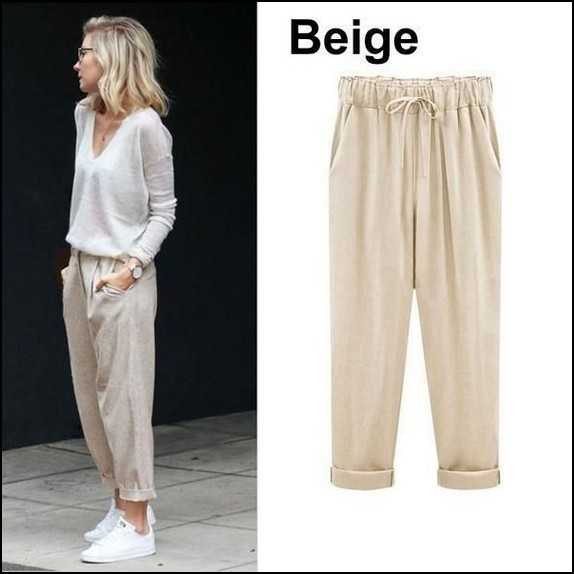 130+ beautiful summer outfits to update your wardrobe  page 34   myblogika com is part of Linen harem pants - 130+ beautiful summer outfits to update your wardrobe   page 34 Related