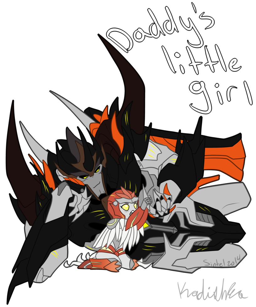 Daddy's Little Girl w/speedpaint by SintelDragon on DeviantArt << THIS IS REALLY FREAKING CUTE