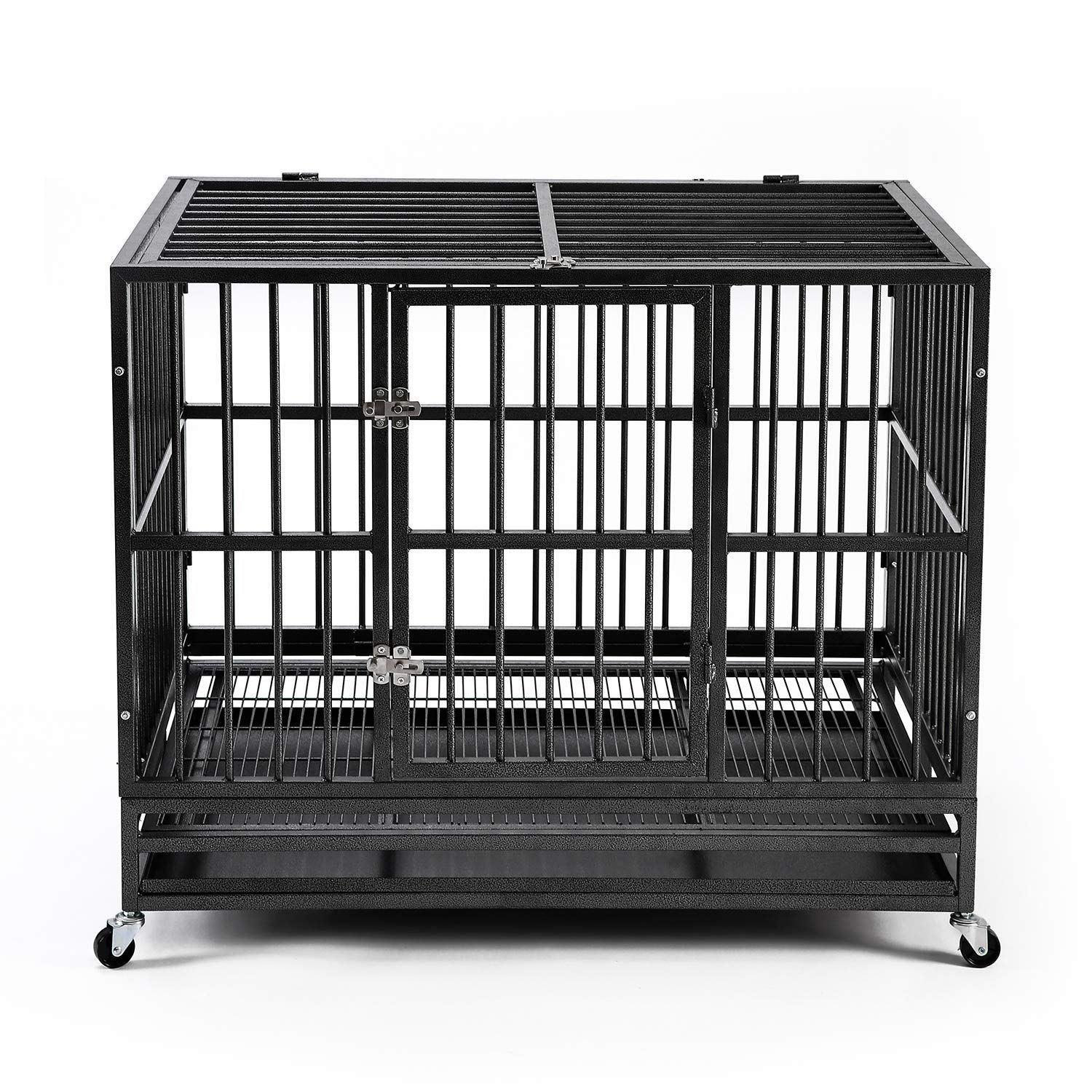 Ainfox 42 Heavy Duty Metal Dog Crate Be Sure To Check Out This Awesome Product It Is An Affiliate Link To Amazon In 2020 Pet Crate Dog Crate Portable Dog Crate