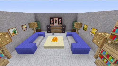 Awesome minecraft living room design ideas minecraft for Minecraft lounge ideas