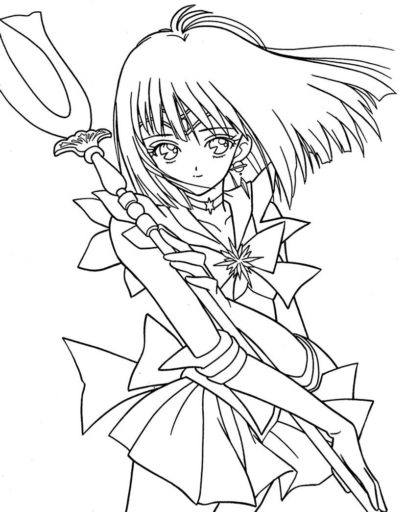 sailor saturn coloring page  sailor moon coloring pages