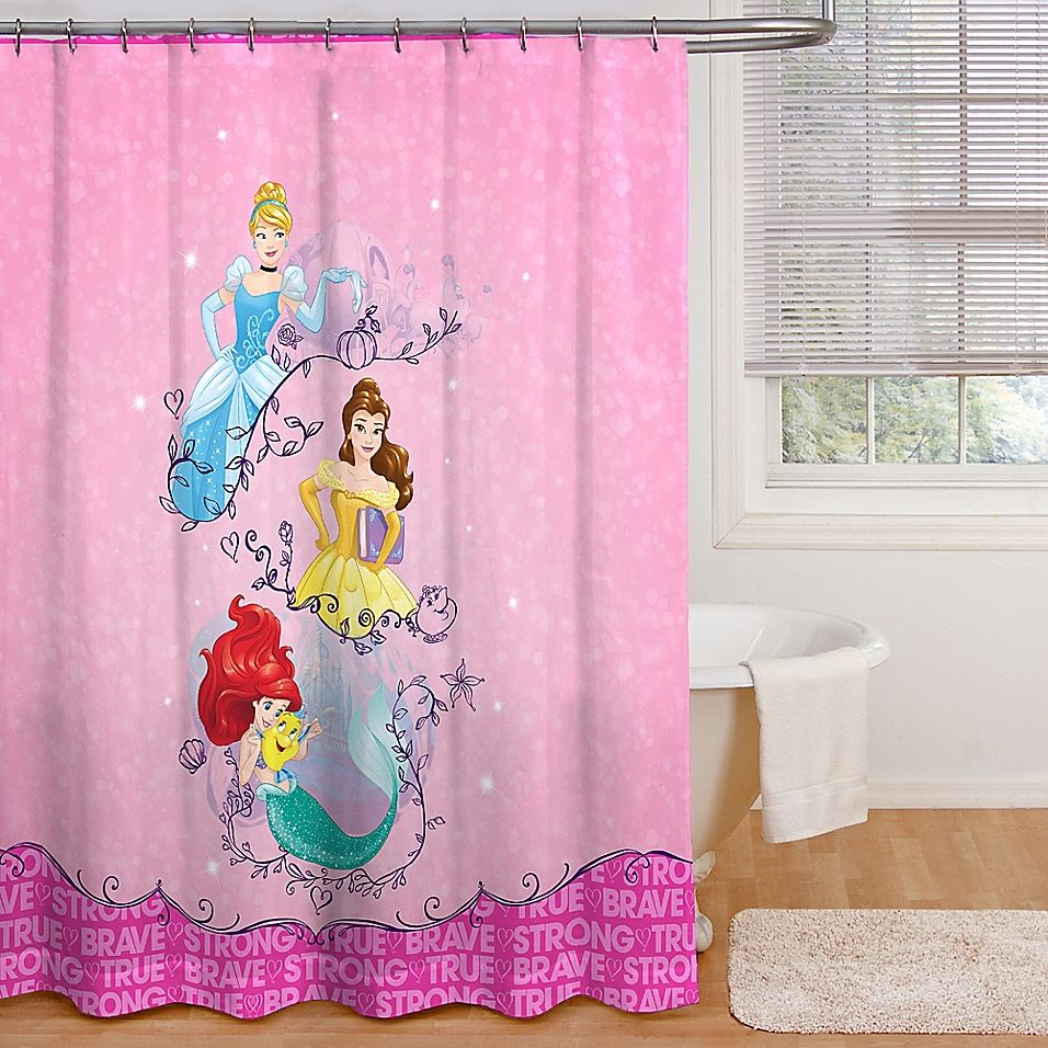 Disney Princess Dream Fabric Shower Curtain Multi Dream Shower