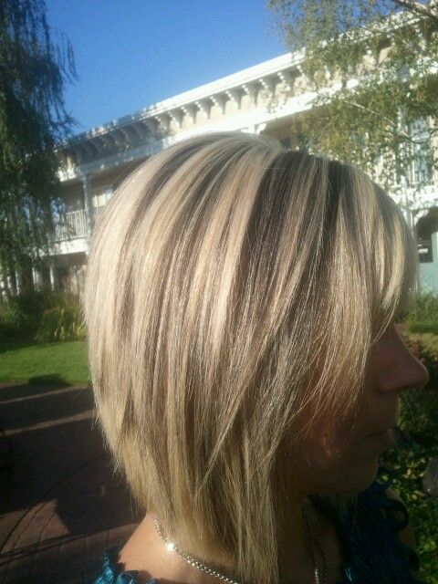 Platinum Blonde With Chocolate Brown Lowlights Hair