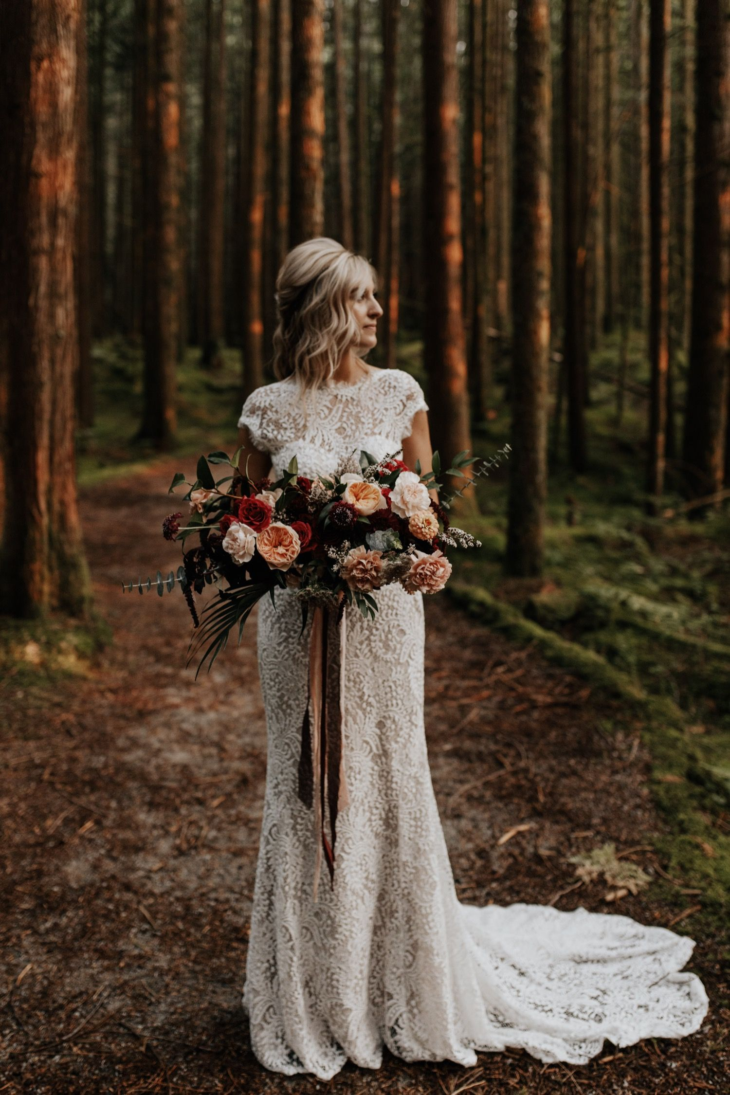 Forest Elopement Vancouver Canada Tessa Shannon Photography Wedding Photoshoot Forest Forest Wedding Ceremony Forest Styled Shoot [ 2250 x 1500 Pixel ]