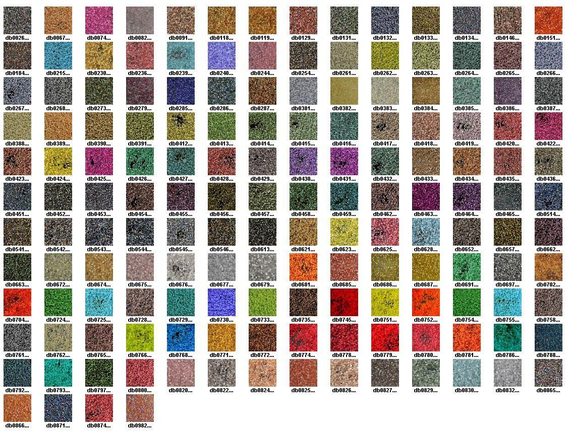 Miyuki Delica Seed Bead Color Chart More