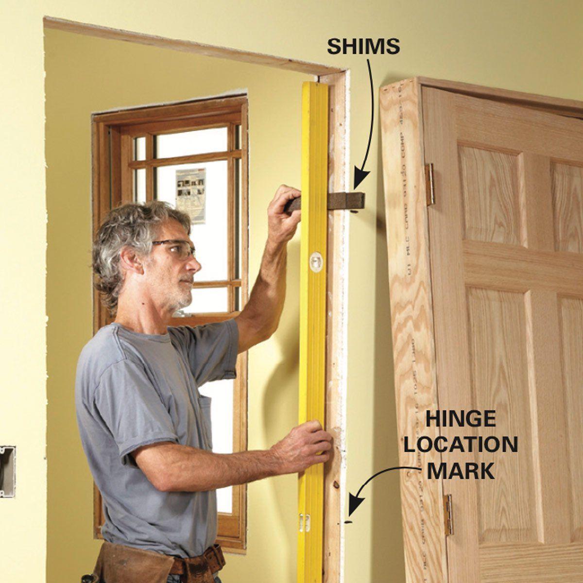 Tips For Hanging Doors Home Repair Basement Remodeling Family Handyman