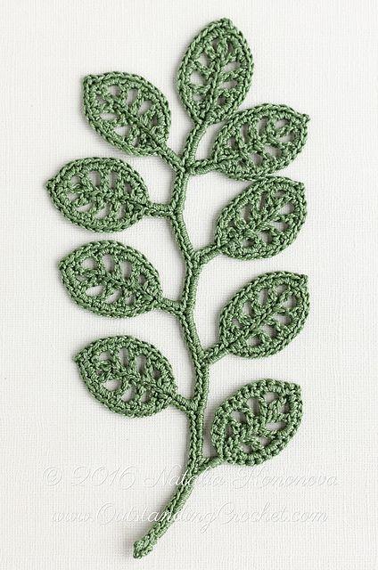Irish Lace Motif Branch Pattern By Natalia Kononova Pinterest