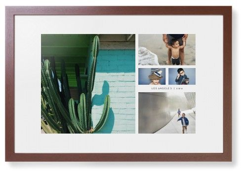 Hero Collage Framed Print, Brown, Contemporary, None, White, Single piece, 20 x 30 inches