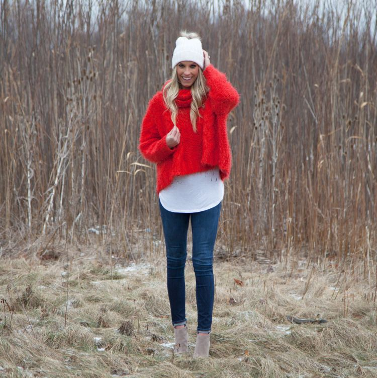 Red Fluffy Sweater