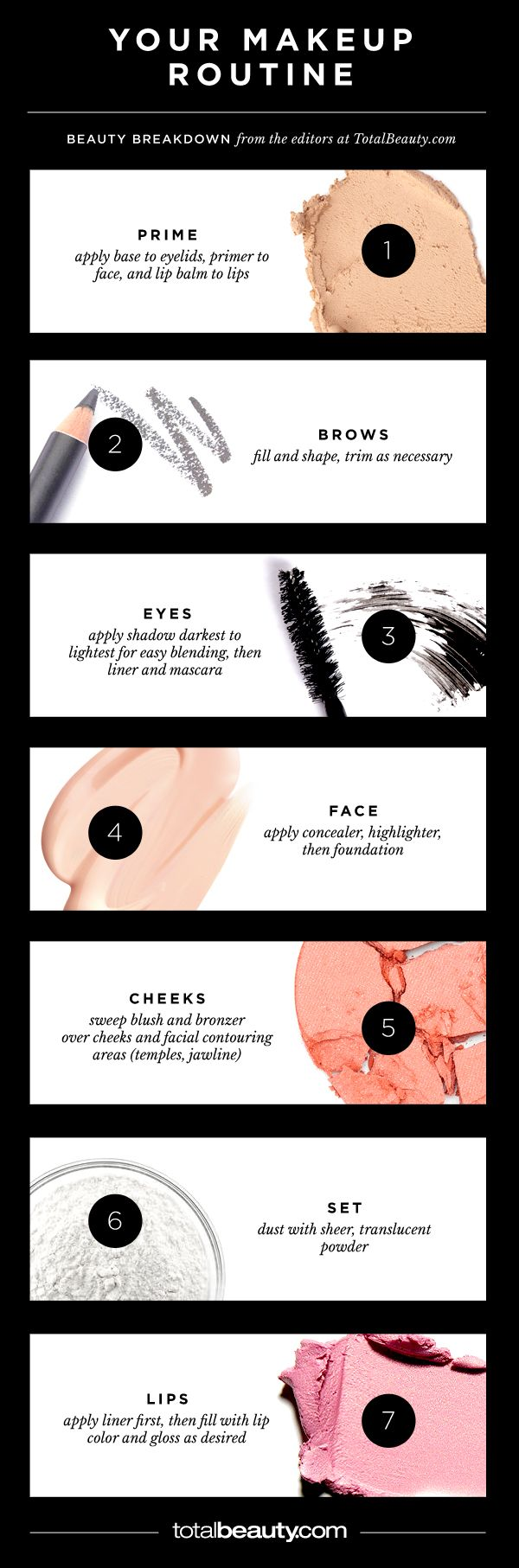 Makeup Order Order Of Makeup Application: The Only Way You Should Ever Put On Makeup