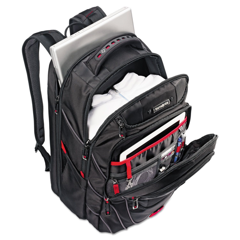 Samsonite Tectonic PFT 17 Backpack Black//Red Laptop Backpack NEW