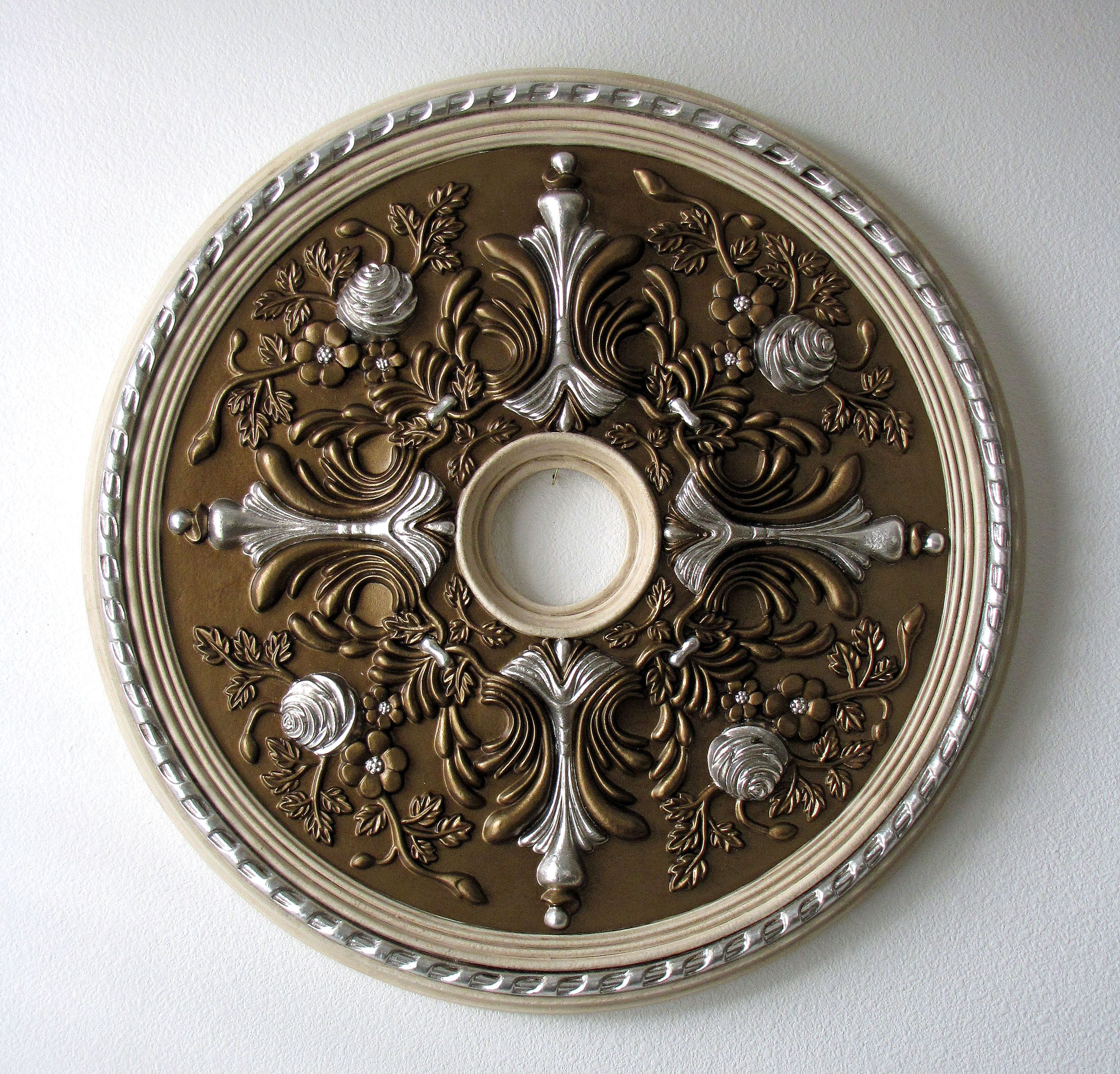 to painting a ceiling brass tutorial paint destashio how medallion
